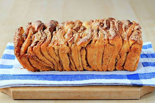 pull-apart bread (monkey bread) with all whole ingredients, no Pillsbury here!