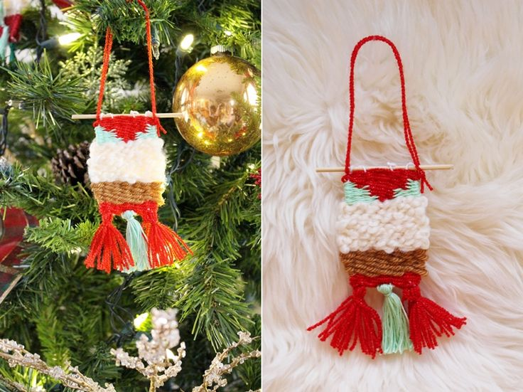 Anthropologie Inspired DIY Woven Ornaments | Camp Makery