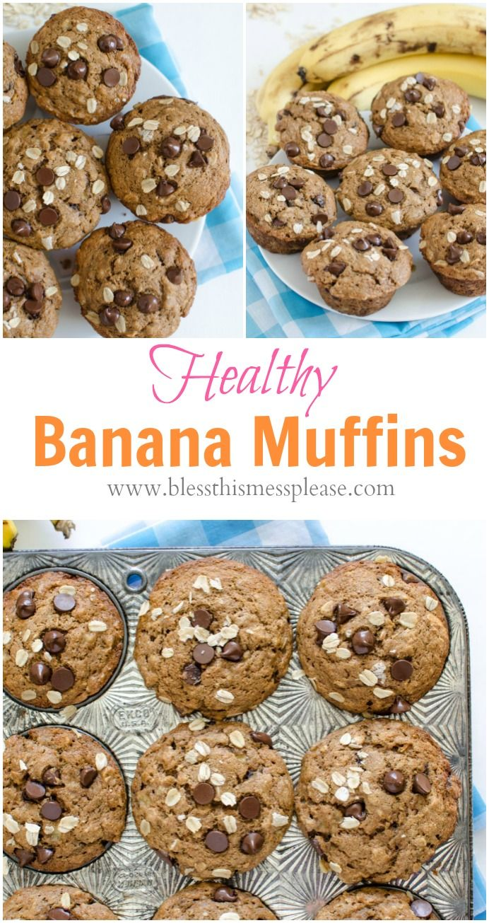 Healthy banana muffins, Banana muffin recipes and Muffin recipes on ...