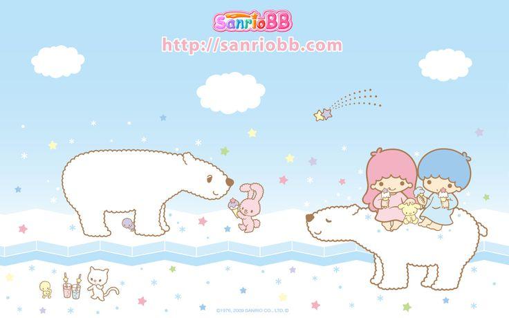 Little Twin Stars Wallpaper 2009 七月桌布 日本 SanrioBB Present B款