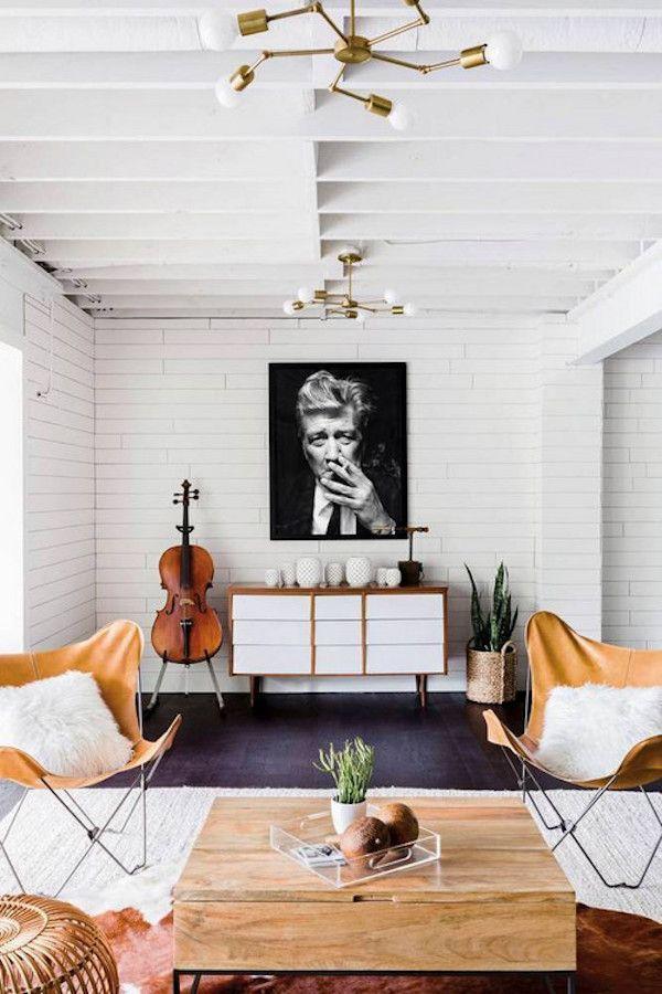 Butterfly chairs in the happy, vibrant Nashville home of Elsie Larson / ©️️Alyssa Rosenheck.