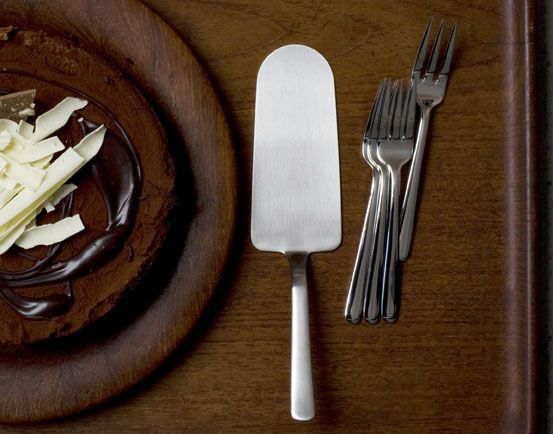 Kay Bojesen's Grand Prix cutlery, crafted in 1938. Cake server and cake forks  Kay Bojesen Grand Prix cutlery/flatware