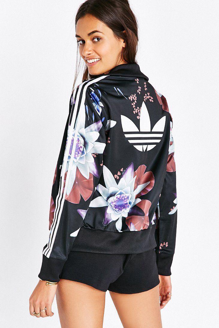 adidas womens floral jacket