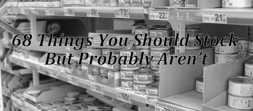 Every survivalist message board and prepper blog tells you to stock the same things; weapons, water, food basics, etc. So, I went looking for a list of