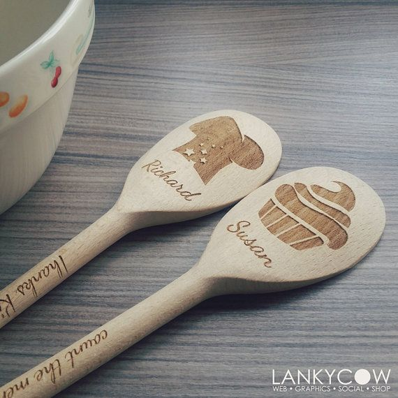 Loving these personalized wooden spoons