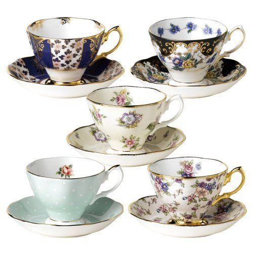 Royal Albert 100 Years of Royal Albert Teacups and Saucers, Set of 5, 1900-1940 by Royal Albert, http://www.amazon.com/dp/B0014TIZK8/ref=cm_sw_r_pi_dp_KClXqb0D3BJ2A