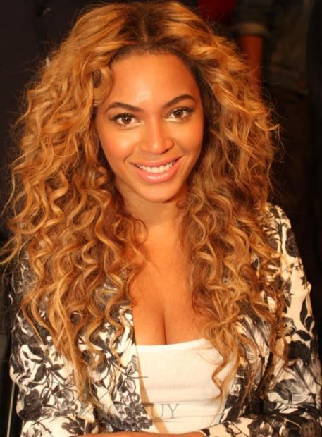 Deluxe Custom Beyonce Hairstyle Long Curly Lace Wig 100% ...