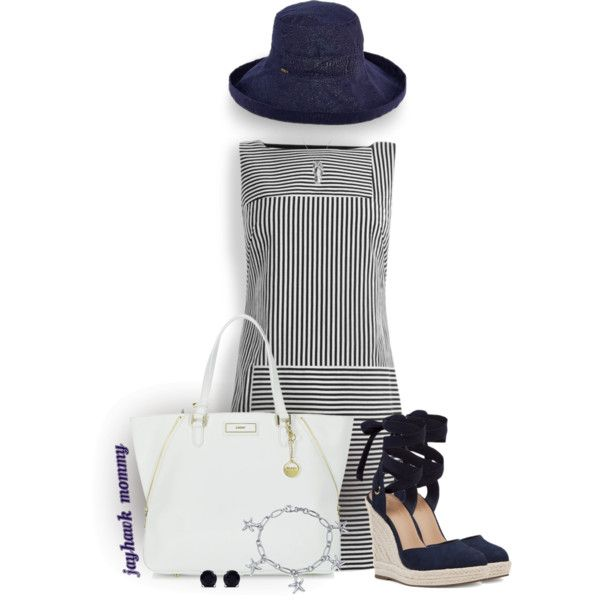 Cape Cod Summer by jayhawkmommy on Polyvore featuring Maryling, Nine West, DKNY, Bling Jewelry, Malaika, Allurez and Scala
