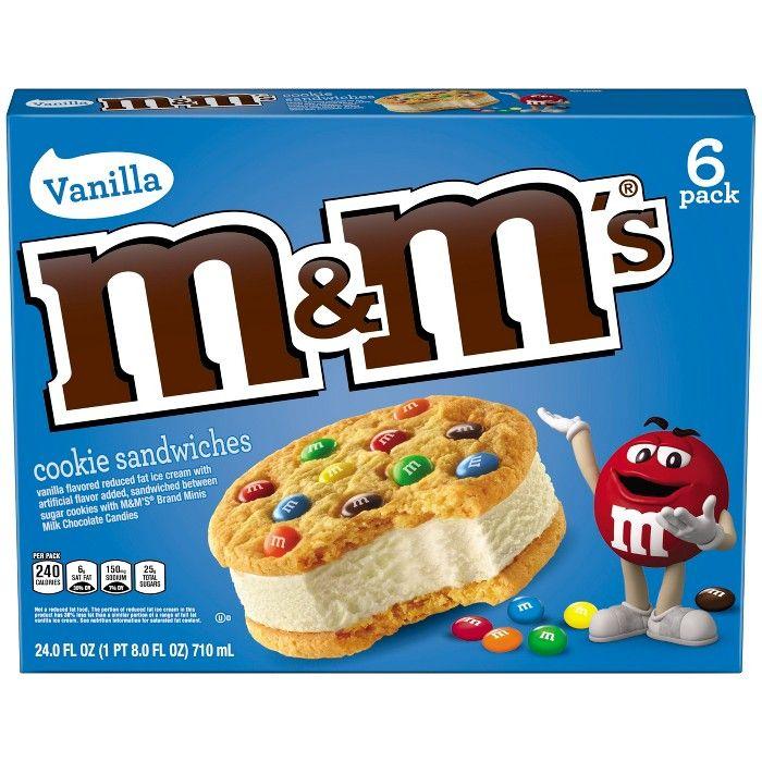 M M S Vanilla Ice Cream Cookie Sandwiches 24oz 6ct Ice Cream Cookie Sandwich Sandwich Cookies Ice Cream Cookies