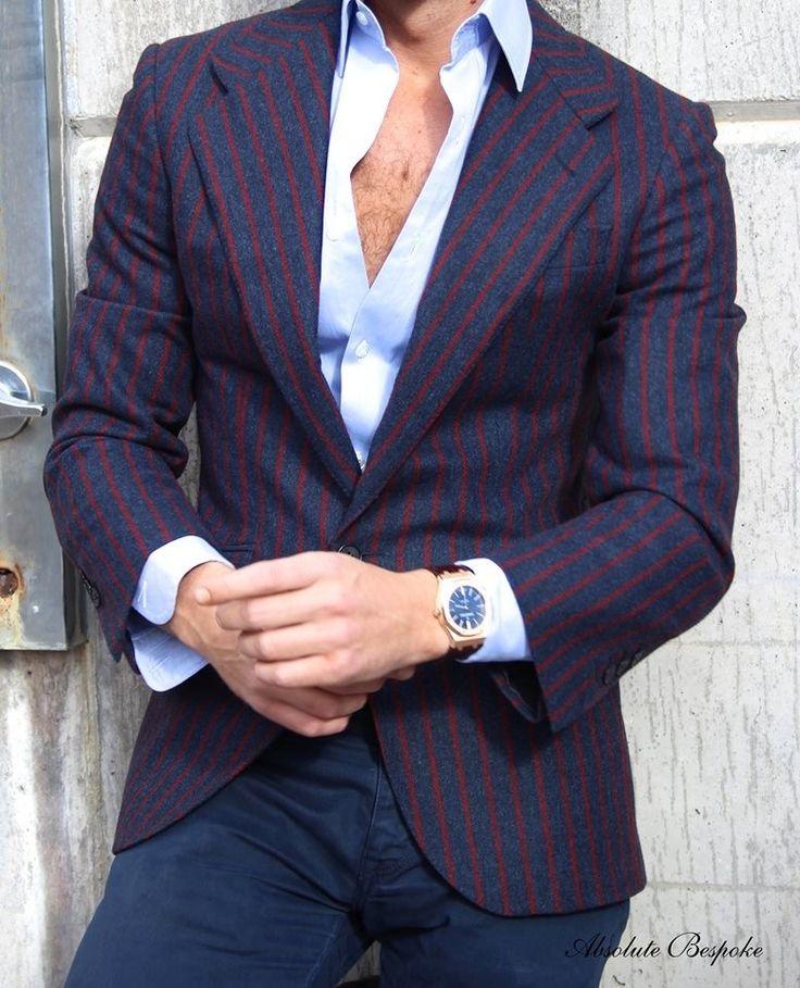 Sport pinstripe jacket T pattern by Absolute Bespoke