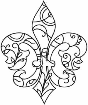 Fleur de Lis Swirls   Urban Threads: Unique and Awesome Embroidery Designs