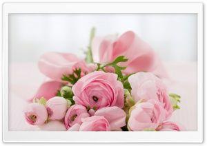 Pink Flowers Bridal Bouquet HD Wide Wallpaper for Widescreen