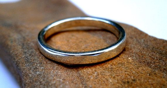 Unisex Silver Ring Hammered  ring Fine by JewelryByKonstantis