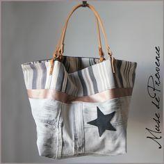sac cabas de créateur en jean blanc et cuir 1                                                                                                                                                                                 Plus