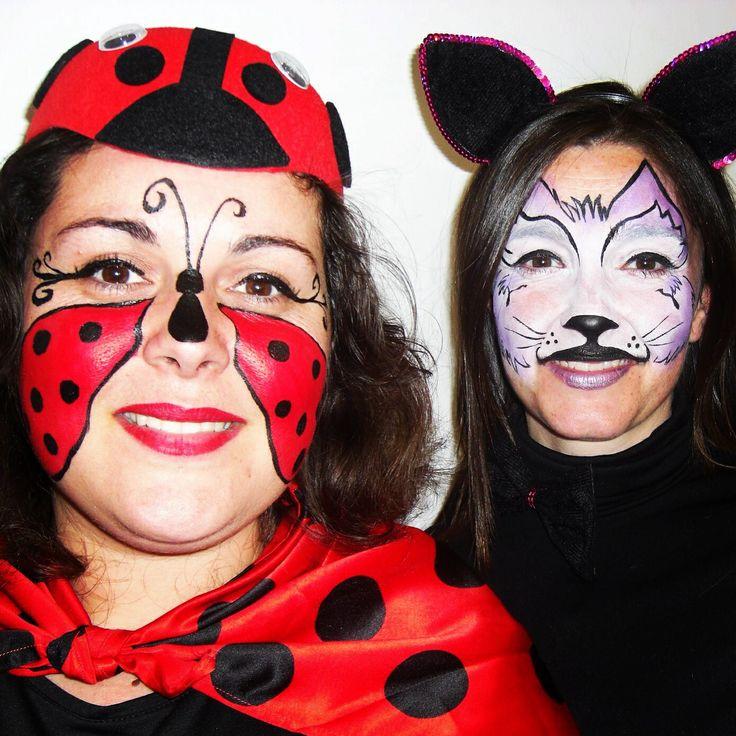 maquillaje fantasía carnaval_gato y mariquita