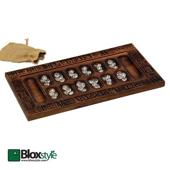 This beautifully carved walnut mancala game board features the finest hand selected hardwoods available and is guaranteed to bring you and your
