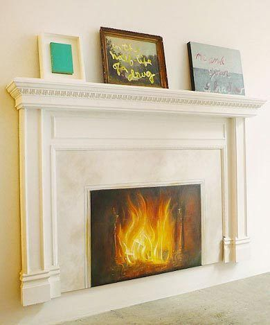 17 best images about faux fireplaces on pinterest - Como hacer chimeneas decorativas ...