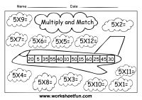Times table multiplication fact families fluency worksheets