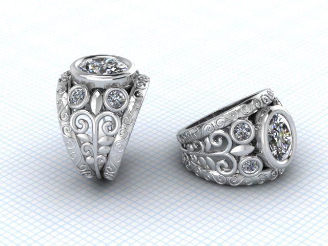 Custom made CAD ring - Fia Fourie