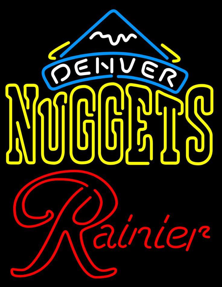 Rainier Denver Nuggets NBA Neon Beer Sign | Neon beer