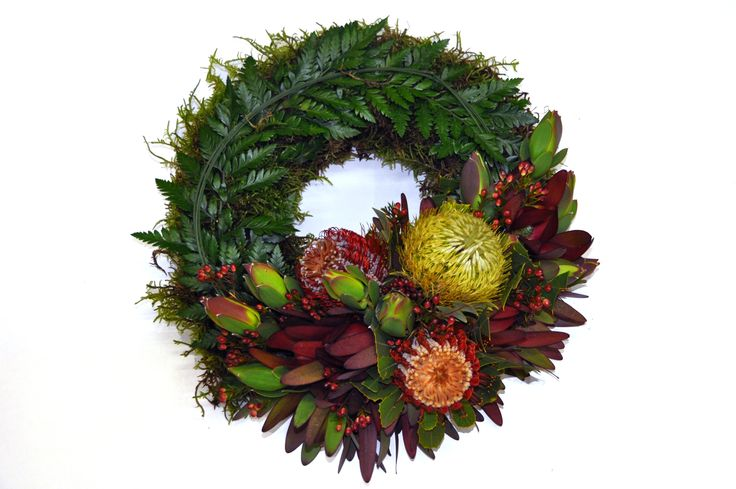 Wreath with Native Flowers -Donvale Flower Gallery