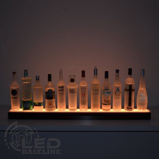 60 best our custom lighted bar shelving images on pinterest amazon single step lighted liquor bottle display shelf with led color changing lights mozeypictures Gallery