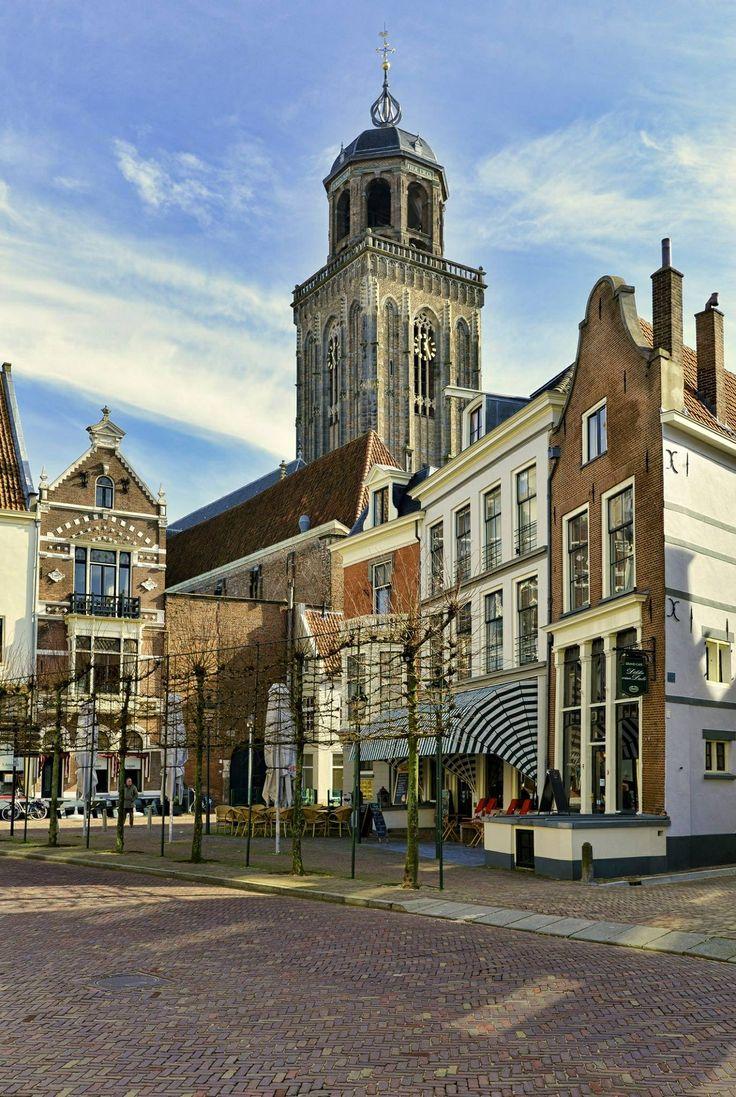 Nieuwe Markt in Deventer, waar wij vroeger gewoond hebben.