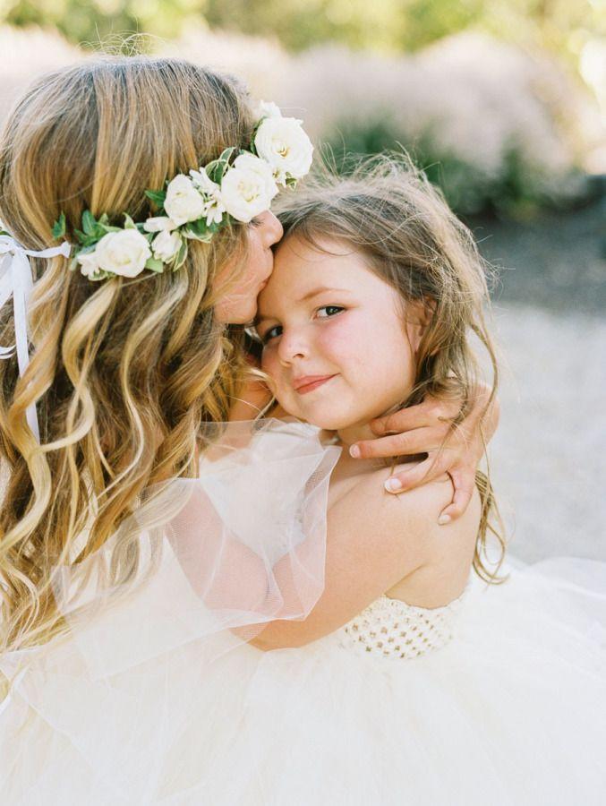 These cuties! http://www.stylemepretty.com/california-weddings/kenwood/2015/08/05/romantic-private-estate-napa-wedding/ | Danielle Poff Photography - http://www.daniellepoff.com/