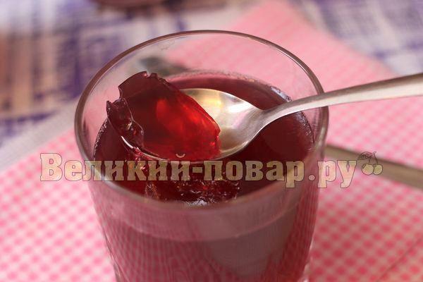 Вишневое желе с цитрусовыми нотками - пошаговый рецепт с фото от сайта «Великий повар»