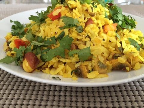 How to make Indian Snacks - Vegetable Poha Recipe