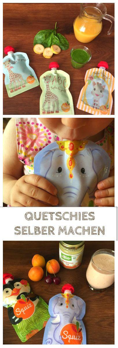 Quetschies selber machen ist nicht schwer. Ich zeige euch leckere Rezepte für Smoothies, die sich für das Baby und Kleinkind eignen. So habt ihr immer leckere frische Quetschbeutel - ganz preiswert und umweltfreundlich: http://www.breirezept.de/artikel_quetschies-selber-machen.html