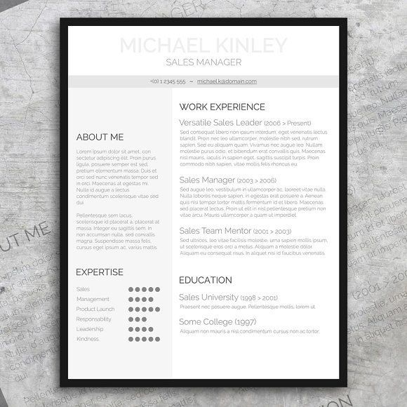 Resume + FREE Cover Letter by Visual Impact on @creativemarket