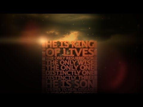 We Will Run / He is Here Live (Lyric Video)  This is awesome!!!  The illustrated word with it being spoken is so powerful!