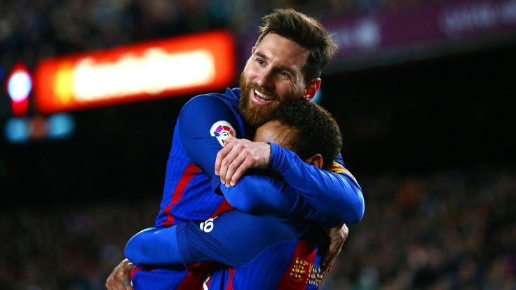 Barcelona star Lionel Messi says farewell to PSG-bound Neymar