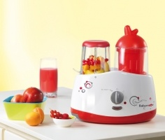 Babymoov Bebedelice Redgrey - The multi-functional food processor that can be used from birth! Simple to use with only two control buttons. Heats and reheats bottles and small jars; Sterilises bottles; Cooks fresh food without losing its vitamin content; Blends; Defrosts and preserves frozen food. The Bebedelice is practical and stops automatically and alerts you that it is completed via a visual alarm and a sound alarm. It comes with a measuring cup and a set of tongs for easy handling.