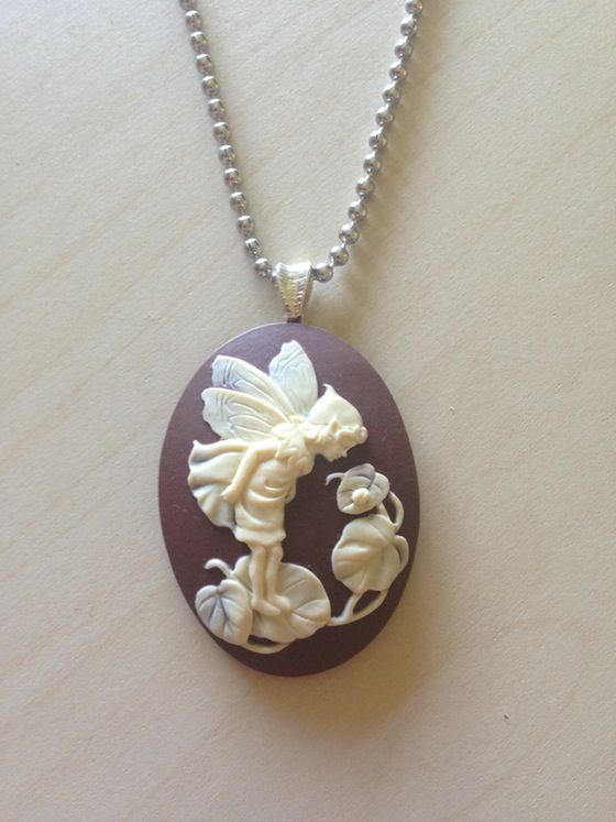 Garden Fairy #cameo pendant necklace