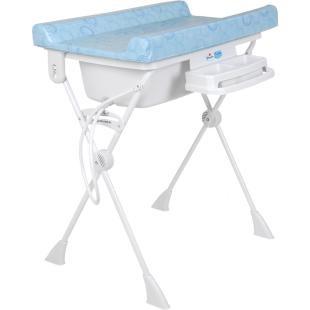 Banheira Burigotto Ipanema Circles Azul    Capacidade máxima do suporte: 30 kg  Sendo: criança até 10 kg + 20 litros de água (20 kg).  R$216.63