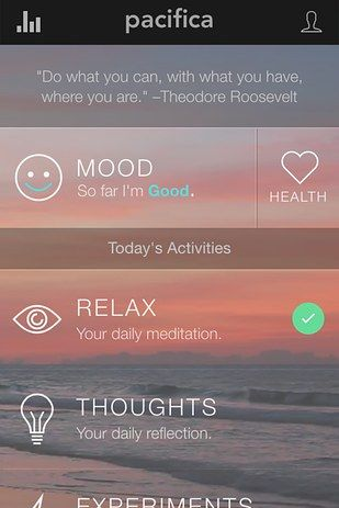 Pacifica, an anxiety-regulating app for iOS and Android — free to download with additional in-app purchases | 10 Life-Changing Things To Try In May