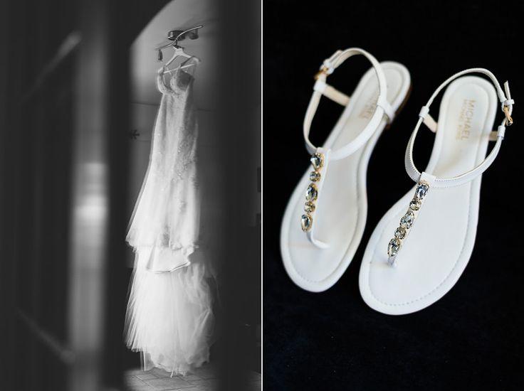 Beach wedding in Athens Greece - Wedding Photographer in Greece  Elias Kordelakos | Michael Kors shoes Pronovias wedding dress