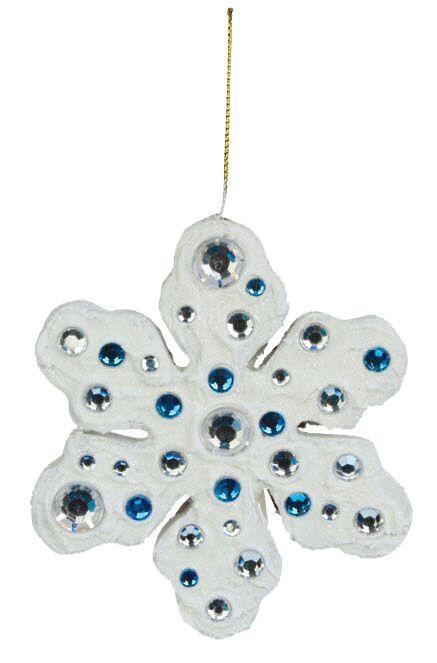 Nicole™ Crafts Paper Mache Snowflake Ornament #ornaments #craft #christmas