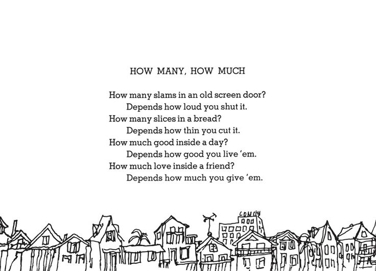 What S In The Sack Shel Silverstein: How Many How Much Shel Silverstein