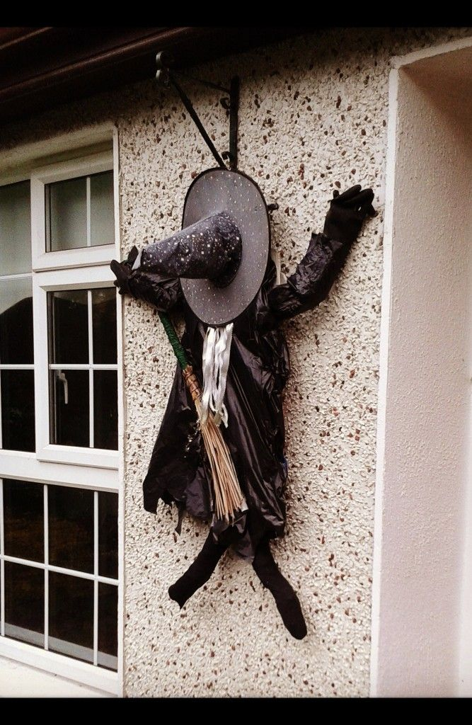 Homemade Halloween Witches Decorations