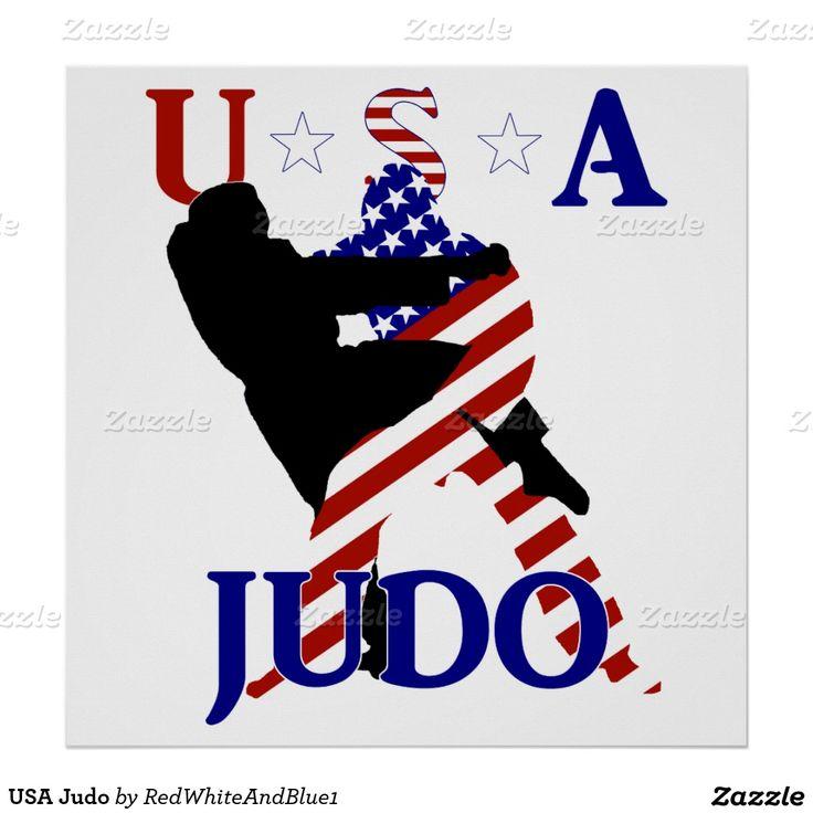 #Patriotic USA #Judo Poster by #RedWhiteAndBlue1 #Zazzle #judoposter #Gravityx9 -