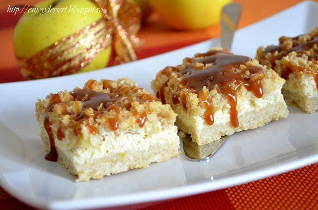 Prajitura cu branza , mere si caramel ~ Bucatar maniac si prietenii