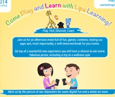Are you in Prague on Oct 8? Lipa Learning is inviting you and your kids over to our event full of fun, games, contest and testing of our apps! Register at usertesting@lipalearning.com, join us & let's have a wonderful time together!