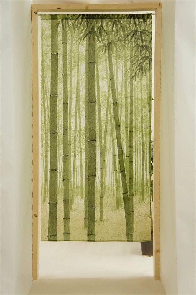 Japanese Noren Curtain Bamboo Long Size 170cm Made In Japan