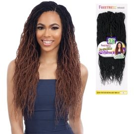 FreeTress Synthetic Hair Crochet Braids 3X Pre-Stretched Natural Wavy Twist 18""