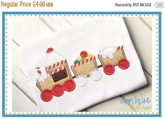 3574 Gingerbread Train applique design for embroidery machine by Applique Corner  THIS FILE IS AVAILABLE FOR INSTANT DOWNLOAD. PLEASE LOOK FOR THE DOWNLOAD BUTTON AFTER CHECKOUT.  Design as shown above in sizes 4x4, 5 x 7 and 6 x 10 hoop sizes. Please note that you must have a embroidery machine and embroidery software in order to use this file and transfer it from your computer to your sewing machine. When you purchase this listing you will receive a zip file with applique design files in…