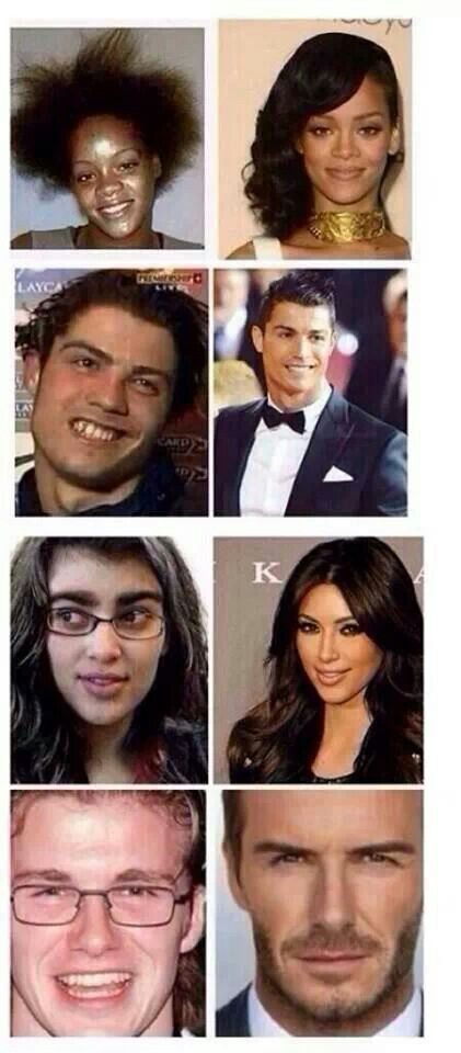 Celebrities before and after!