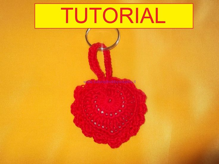 tutorial per realizzare un cuore all'uncinetto portachiavi (1)